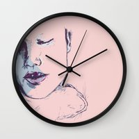 cuddle Wall Clocks featuring cuddle by Gaspart