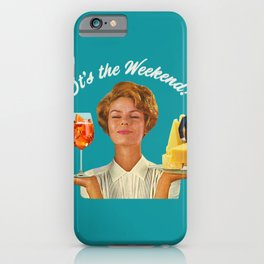 Weekend Plans (Cocktails & Cheese) iPhone Case