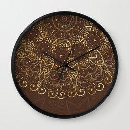 Mandala Golden Collection II Wall Clock