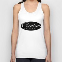 cocaine Tank Tops featuring Cocaine Attitude by Trash Apparel