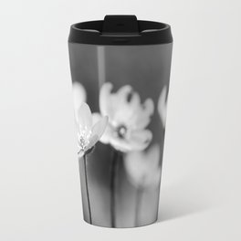 Anemone hepatica II - BW Travel Mug