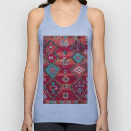18 - Traditional Colored Epic Anthique Bohemian Moroccan Artwork Unisex Tank Top