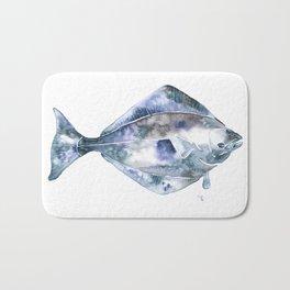 Flat Fish Watercolor Bath Mat