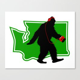 Bigfoot walk in Washington Canvas Print
