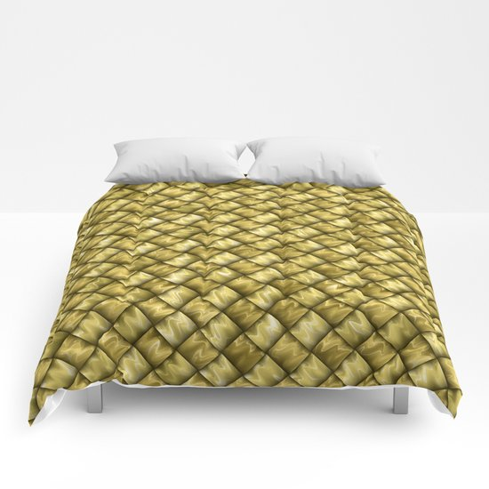 Patchwork Gold Comforters