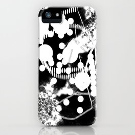 black whıte iPhone Case