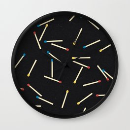 Matchsticks Wall Clock