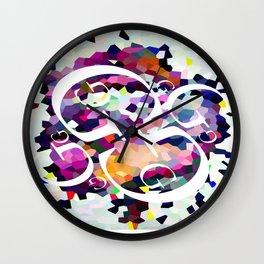 Perception Experiment 001 Garamond Wall Clock