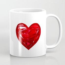 Garnet Heart Coffee Mug
