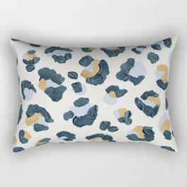 Snow Leopard Print Rectangular Pillow