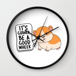 It's Guinea Be a Good Wheek, Guinea Pig Gift, Animal Pun, Motivational Wall Clock