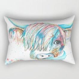 Highland Cattle full of colour Rectangular Pillow