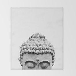 Shy Buddha Throw Blanket