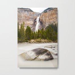 Waterfall in the Canadian Rockies Metal Print