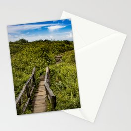 Beautiful Wooden Bridge Leading up to a Lake View on top of Mombacho Volcano, Nicaragua Stationery Cards