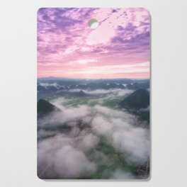 Pink sky Cutting Board