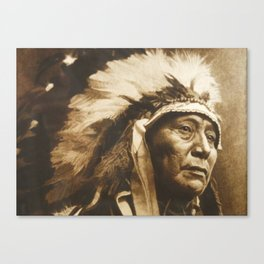 Chief Running Antelope - Native American Sioux Leader Canvas Print