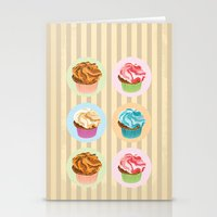 cupcakes Stationery Cards featuring Cupcakes by Xiao Twins