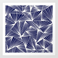 TriangleAngle (Navy) Art Print