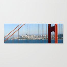 Golden Gate Bridge – Panoramic Downtown View Canvas Print