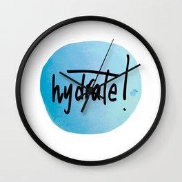 Watercolour Self-Love Reminder Wall Clock