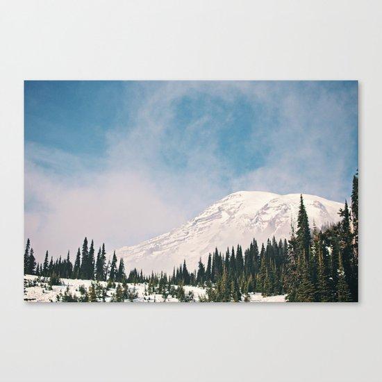 Mount Rainier in the Winter Canvas Print