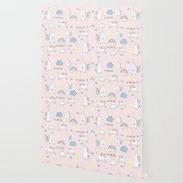 I'm a Unicorn - light pink Wallpaper