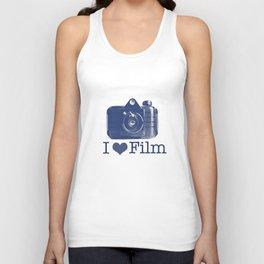 I ♥ Film (Blue/Peach) Unisex Tank Top