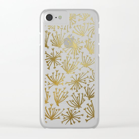 Queen Anne's Lace #2 Clear iPhone Case