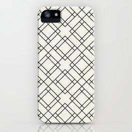 Simply Mod Diamond Black and Cream iPhone Case