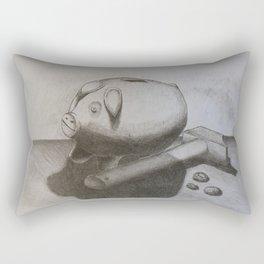 Cerdito hucha Rectangular Pillow
