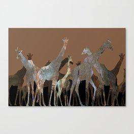 Girafes Canvas Print
