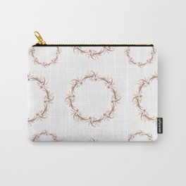 Watercolor floral wreath Carry-All Pouch