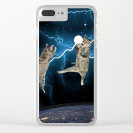 CAT FIGHT  Clear iPhone Case