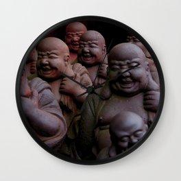 Laughing Buddhas Wall Clock