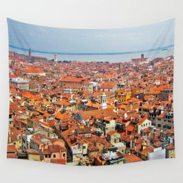 Venice Rooftops Wall Tapestry