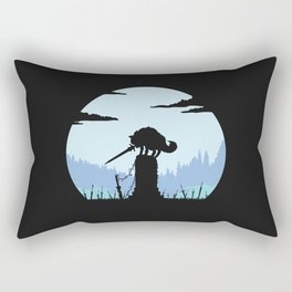 Grey Wolf Sif (Dark Souls) - in black Rectangular Pillow