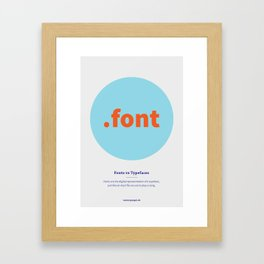 Fonts vs Typefaces Framed Art Print