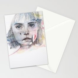 little girl's shadow Stationery Cards