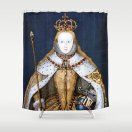 Queen Elizabeth I of England in Her Coronation Robe Shower Curtain