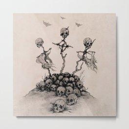 Pile of Skulls Metal Print
