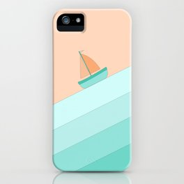 Boat on the Water #1 iPhone Case