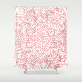 Light Pink Mandala Shower Curtain