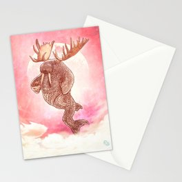 Space Walrus on Moon Patrol Stationery Cards