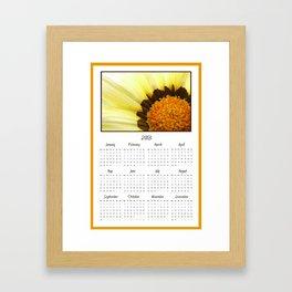 Yellow Flower 2013 Calendar Framed Art Print