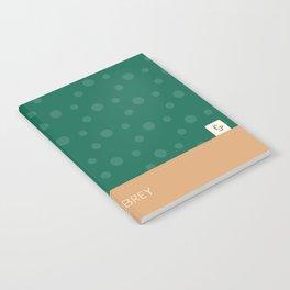 Aubrey - Hunter Green and Tan Notebook