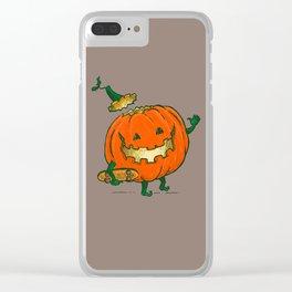 Skatedeck Pumpkin Clear iPhone Case