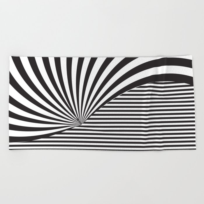 Optical Game 8 Beach Towel
