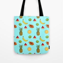 Tropical Fruity Summer Pattern Tote Bag