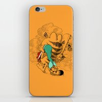 garfield iPhone & iPod Skins featuring Mer'MEAL by Anwar Rafiee